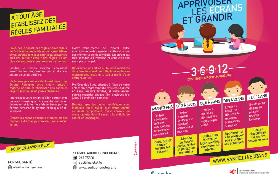 Une grande campagne Luxembourgeoise pour aider parents et professionnels à adapter l'usage de chaque type d'écran à l'âge des enfants